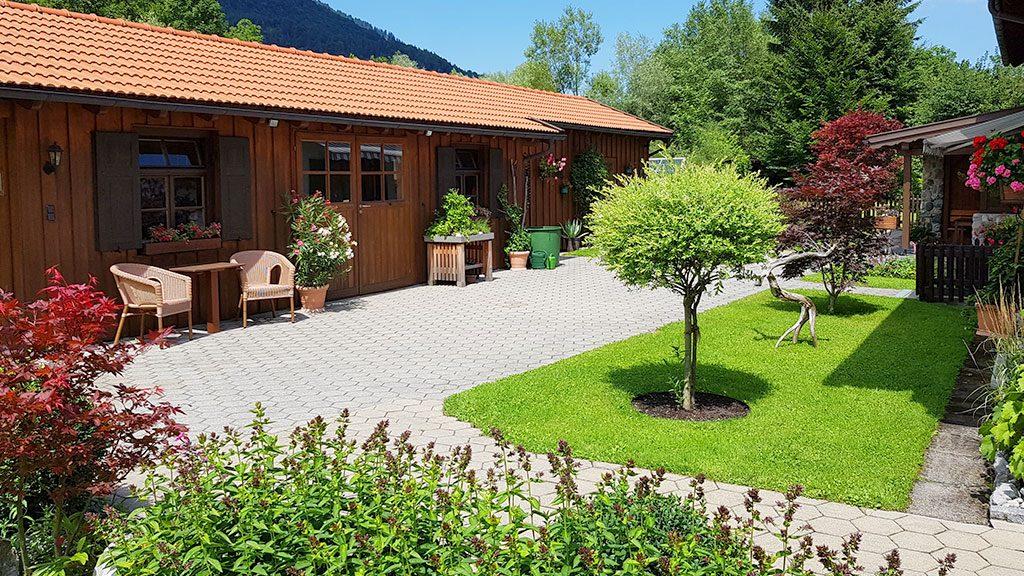 Gartenanlage am Ferienhaus Hofer