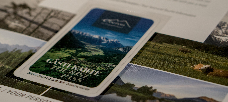 Die Gästekarte von Oberau im Zugspitzland.
